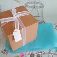 Gift box, 10cm square gift box favour box, tissue paper, birthday, wedding,
