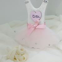 Personalised bridesmaid gift, freestanding wooden ballerina dress,