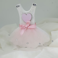 Ballerina dress, freestanding wooden home decoration, nursery, bedroom , new