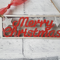 Merry Christmas wall decoration,  glitter and sparkle wall decor, Christmas