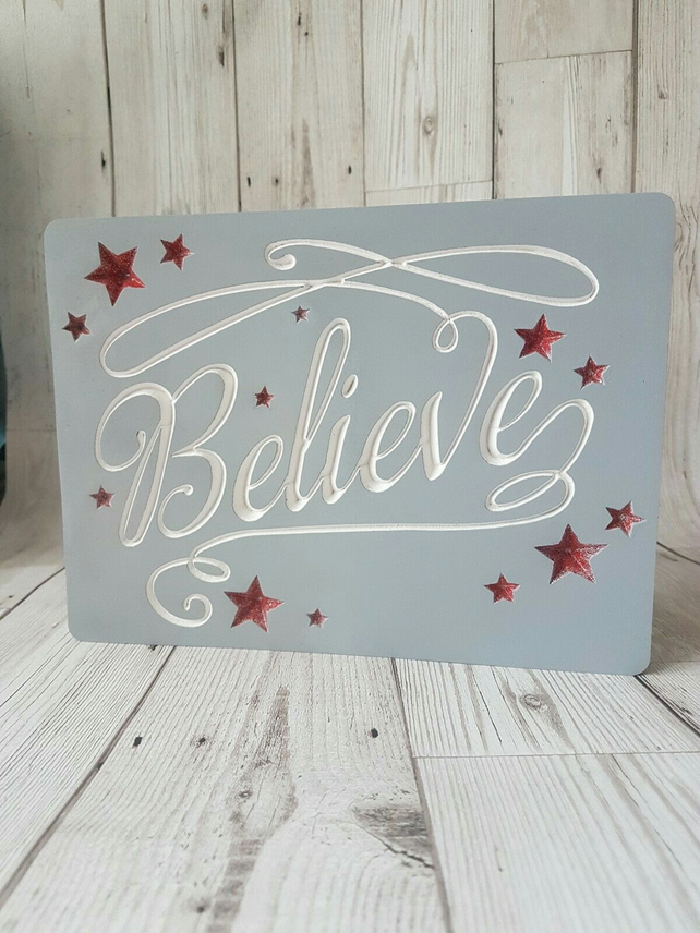 Christmas decoration, believe freestanding christmas decor, new design