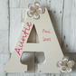 Our latest addition to our 2020 collection.  Freestanding letter A for aunt aunt