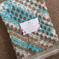 Beautiful crochet baby blanket for a girl or boy- perfect fit for a car seat.