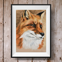 Fox Print - Fox Picture - Woodland Animal Picture - Fox art - Fox Gift