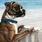 Medium Boxer Dog Print - Boxer Picture - Boxer Dog Wall art - Boxer Painting
