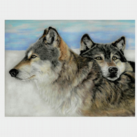 Wolf picture, wolf gift, wolf print, original art print, various sizes