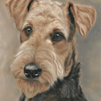Airedale terrier print, Airedale terrier gift, terrier picture, dog art