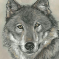 Wolf art, wolf gift, animal picture, wolf painting, wolf wall art