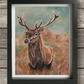 Stag wall art - Framed art - Animal gift idea - Stag art - Stag painting