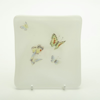 Handmade, Fused Glass, Butterfly, Trinket, Ring, Dish