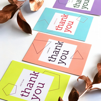 Thank You Cards, A5 with White Envelopes - choose your colour notecard