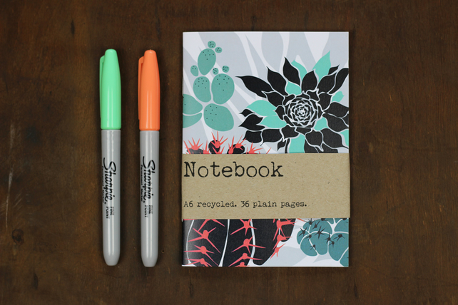 Cacti and succulents notebook