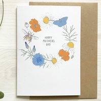 Cornish Wildflower Mother's Day card