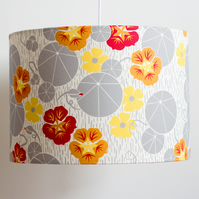 Nasturtium and Black-Eyed-Susan lampshade