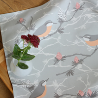 Nuthatch and Larch tea towel