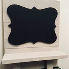 Shabby Chic Chalkboard Curvy Shaped Shelf Hanging Blackboard Memo Wedding