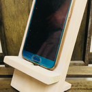 Handmade Wooden Mobile Phone Stand Holder. Perfect for iPhone, Samsung Galaxy