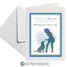 Dog Quote Watercolour Splatter Greeting Card