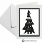Goldilocks And 3 Bears Black Silhouette Greeting Card