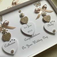 Handmade Personalised Wedding Card Gift Boxed Engagement Anniversary