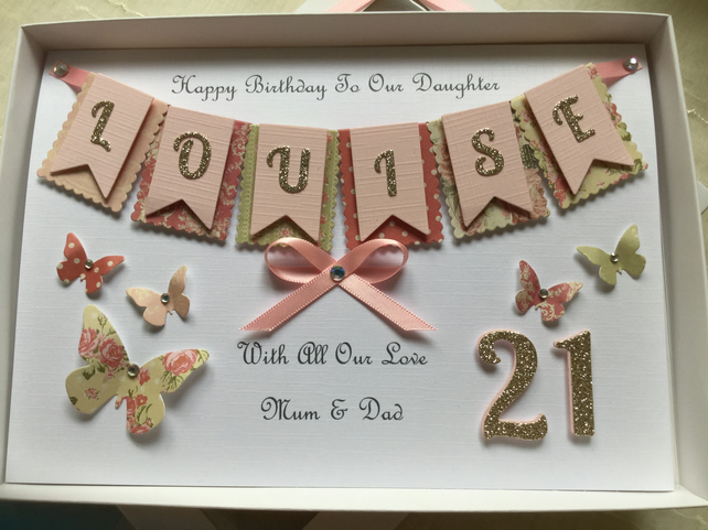 Handmade Personalised Birthday Card Daughter Gr