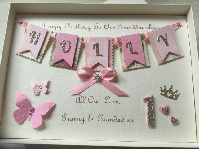 Personalised 1st Birthday Card Daughter Grandda