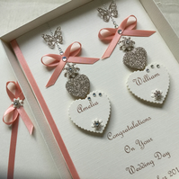 Handmade Personalised Wedding Day Card Engagement Any Anniversary Son Daughter