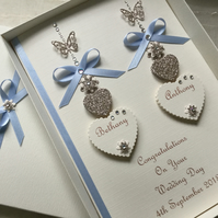 Personalised Handmade Wedding Day Card Gift Boxed Engagement Any Anniversary