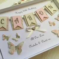 Personalised Handmade Gift Boxed Birthday Card 16 18 21 30 40 59 60 Mum Daughter
