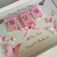 Personalised Handmade Mother's Day Card Gift Boxed Keepsake Mum Nan Mam