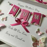 Personalised Handmade Mother's Day Card Gift Boxed Mum Nan Mam