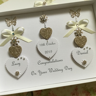 Personalised Handmade Wedding Day Card Gift Boxed Keepsake Son Daughter