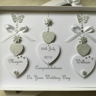 Personalised Handmade Wedding Card Gift Boxed Keepsake Son Daughter Engagement