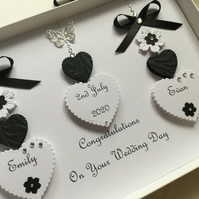 Personalised Handmade Wedding Card Gift Box Keepsake Engagement Any Anniversary