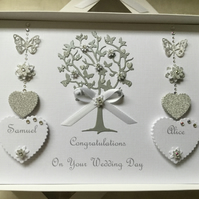 Personalised Handmade Wedding Card Gift Boxed Son Daughter Any Anniversary