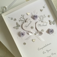 Personalised Handmade Wedding Day Card Gift Boxed Son Daughter Any Anniversary