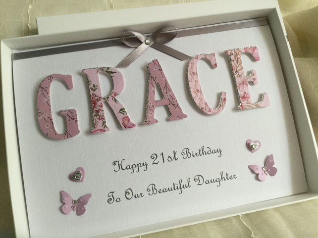 A BIRTHDAY WISH GIFT FOR MY DAUGHTER Personalised Card