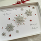 Christmas Card Personalised Husband Wife Mum Dad Girlfriend Gift Boxed Handmade