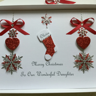 Gift Boxed Personalised Christmas Card Daughter Son Mum Dad Granddaughter