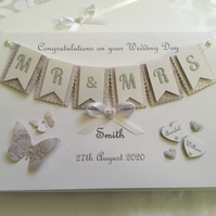 Personalised Gift Boxed Wedding Day Card Son Daughter Keepsake Any Names