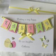 Personalised Handmade Easter Card Gift Boxed Any Names Any Message