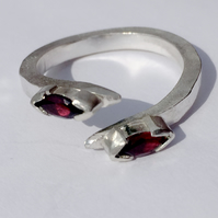 East-West marquise garnets with a twist,