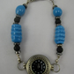 Turquoise Glass Beads Wrist Watch