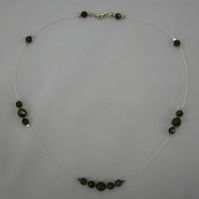 Elegant Labradorite and Sterling Silver Necklace