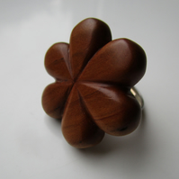 Handcrafted Welsh Wood Expandable Ring