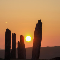 "7"" x 5"" Ring of Brodgar Sunset Greeting Card"
