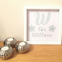 Personalised Name Papercut Frame