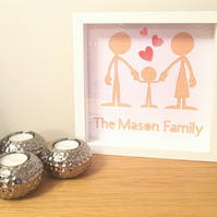 Personalised Family Papercut Frame