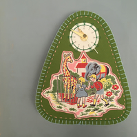 Vintage childhood - going to the zoo clock