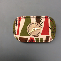 Fabulous fabric small clock